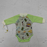 Детский боди длинный рукав на кнопках для новорожденного (футер)