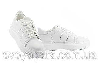 Женские кеды кожаные весна/осень белые Yuves 520 White Leather