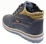 Ботинки зимние мужские кожаные от производителя модель ВОЛ46-3, фото 4