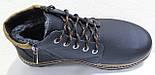 Ботинки зимние мужские кожаные от производителя модель ВОЛ46-3, фото 5