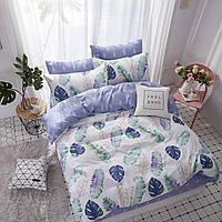 Комплект постельного белья Наша Швейка Бязь Листья тропики Полуторный 150х215 см