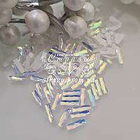 Стразы фигурные 2.5*9 White DeLite 20шт №72