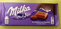 Шоколад Milka с шоколадным кремом молочный 100 г, фото 1