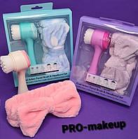 Подарочный набор 2 в 1 (косметическая повязка и щетка для лица)