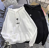 Теплый женский худи с капюшоном трехнитки 39-555-1, фото 2