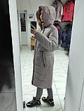 """Довга зимова куртка пальто """"Багіра"""", розмір 56, фото 3"""
