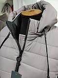 """Довга зимова куртка пальто """"Багіра"""", розмір 56, фото 7"""