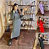 Р 42-52 Платье-худи макси с капюшоном свободного кроя 23134