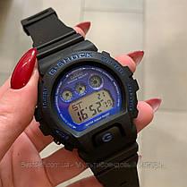 Годинники наручні чорні Casio G-Shock DW-6900 Black-Blue / касіо джишок чорні з червоним, фото 2