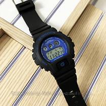 Годинники наручні чорні Casio G-Shock DW-6900 Black-Blue / касіо джишок чорні з червоним, фото 3