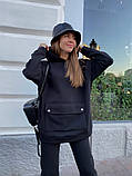 Теплый женский спортивный костюм с карманом кенгуру AL 39-580, фото 4