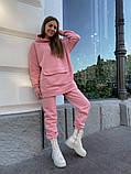 Теплый женский спортивный костюм с карманом кенгуру AL 39-580, фото 3