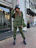 Теплый женский спортивный костюм с карманом кенгуру AL 39-580, фото 5