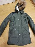 Темно-зелена зимова куртка на підлітка, 140-164, фото 2