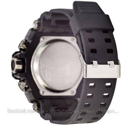Часы наручные черные Casio G-Shock GST-202 Black-Blue / касио джишок черные, фото 2