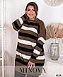 Свитер-туника полосатый Размер 50-58, фото 4