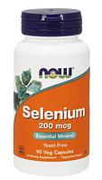 Селен (Selenium), Now Foods, 200 мкг, 90 капсул