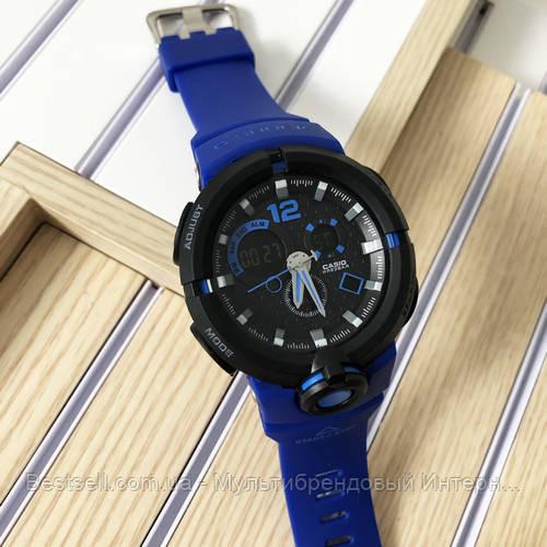 Годинники наручні чорні Casio G-Shock MTG-G1000B Black-Blue Wristband / касіо джишок чорні з синім