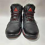 Зимние мужские кожаные ботинки на меху Черные (Большие размеры), фото 2