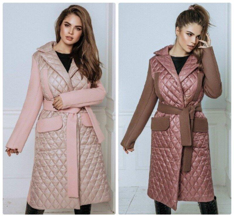 Трендовое женское зимнее пальто стеганное на запах плащевка с кашемиром 2 цвета С М Л Хл Ххл