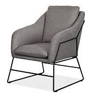 Кресло Дарио серое dario-grey-armchair ТМ VetroMebel