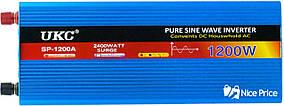 Перетворювач напруги(інвертор) UKC 12-220V 1200W з чистою синусоїда