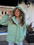 Женская куртка с капюшоном на змейке 39-913, фото 2