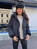 Женская куртка с капюшоном на змейке 39-913, фото 3