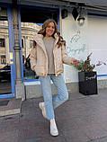 Женская куртка с капюшоном на змейке 39-913, фото 6