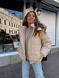 Женская куртка с капюшоном на змейке 39-913, фото 4
