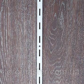 Рейка (перфопрофиль) одинарная белая 2 м
