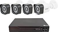 Комплект видеонаблюдения UKC D001-4CH HD 1080P 3.6 мм 2 mp (4 камеры)