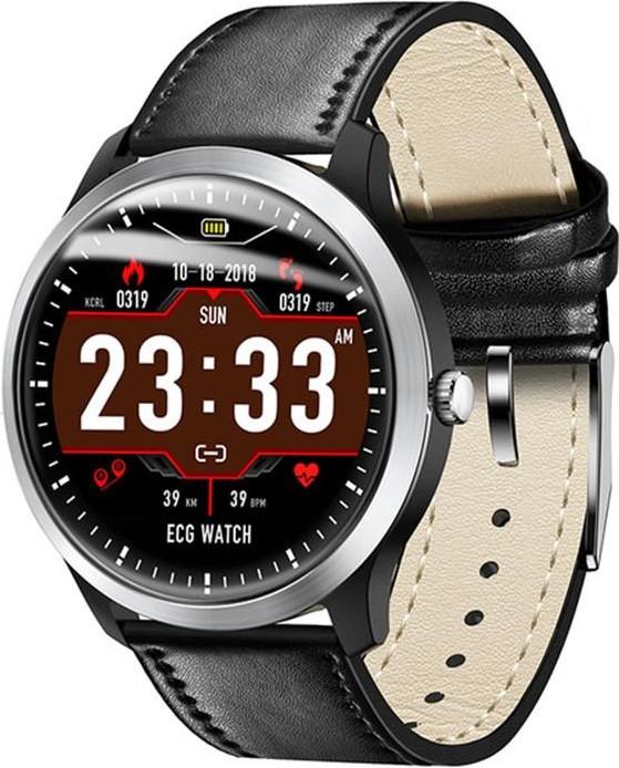 Умные часы Lemfo N58 с измерением давления и ЭКГ (Черный)