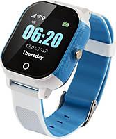 Детские смарт-часы Lemfo DF50 Ellipse Aqua с GPS трекером (Бело-голубой)