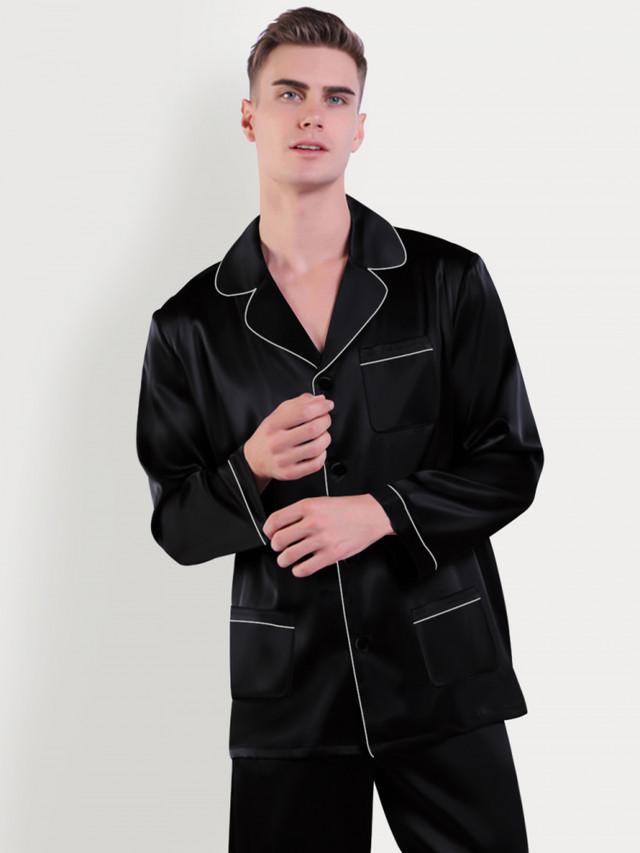 шелковая мужская пижама
