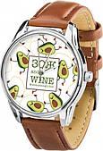 Часы ZIZ ЗОЖ (кофейно - шоколадный, серебро) + дополнительный ремешок (4621756)