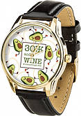 Часы ZIZ ЗОЖ (ремешок насыщенно - черный, золото) + дополнительный ремешок (4621769)