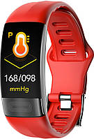 Розумний фітнес браслет Lemfo P11 з датчиком ЕКГ (Червоний)