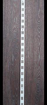 Рейка (перфопрофиль) двойная белая 2м