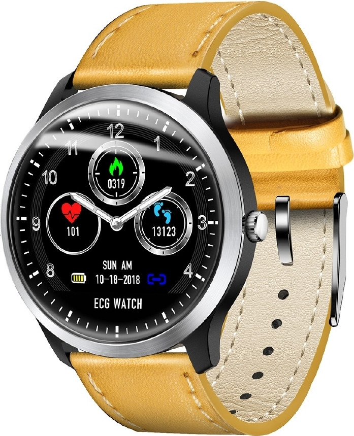 Умные часы Lemfo N58 с измерением давления и ЭКГ (Коричневый)