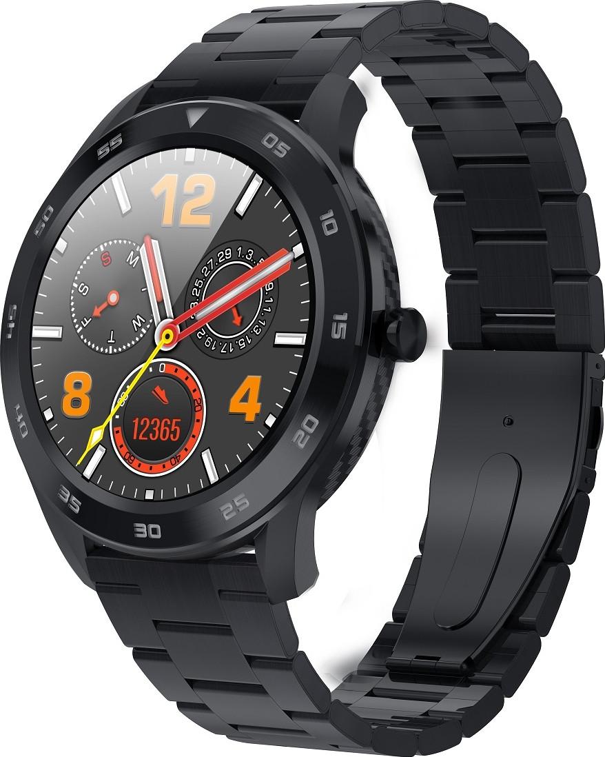 Умные смарт часы NO.1 DT98 Metal с измерением артериального давления (Черный)