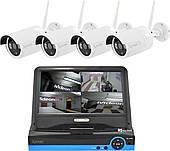 Комплект видеонаблюдения беспроводной Xanon JX-M1004IP WiFi набор на 4 камеры (12332)