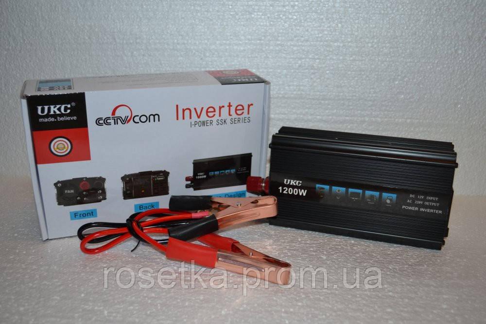 Преобразователь напряжения UKC Technology 1200W (black series)