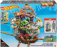Игровой набор Хот Вилс Ультимейт Гараж Оригинал Hot Wheels City Robo T-Rex Ultimate Garage (GJL14), фото 1
