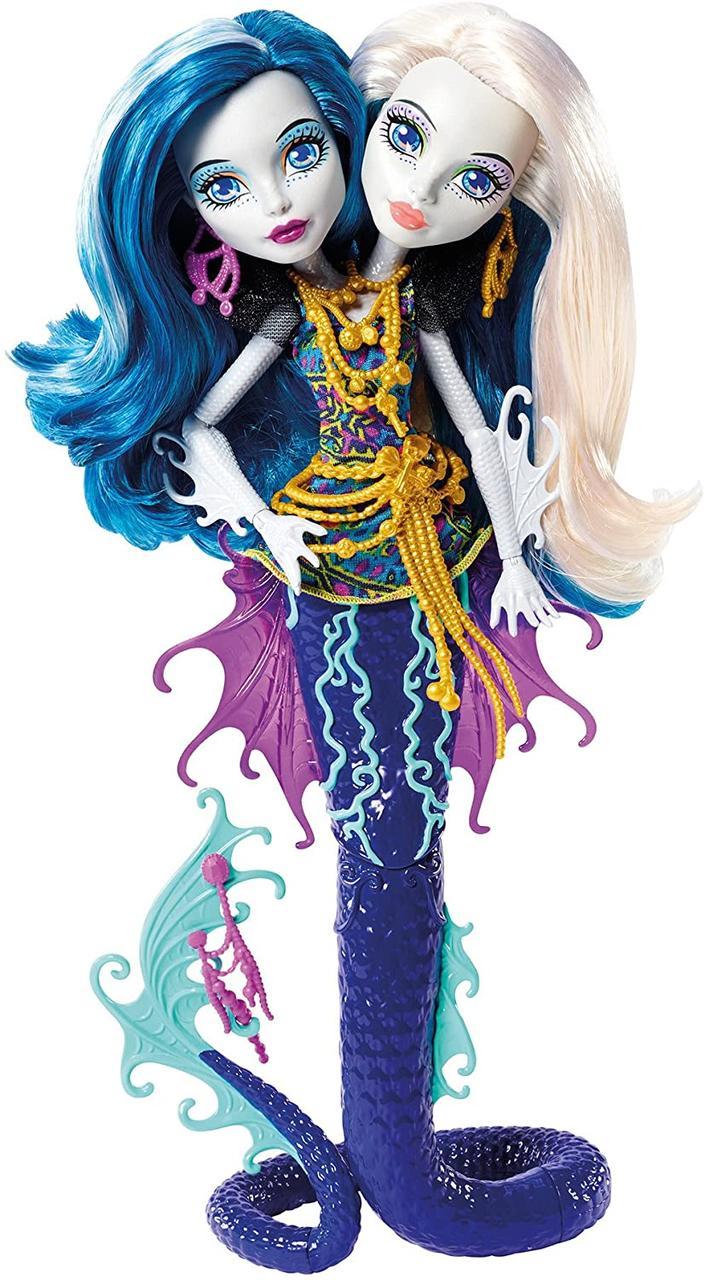 Кукла Монстер Хай Пери и Перл Скарьерный риф Monster High Great Scarrier Reef Peri & Pearl Serpintine DHB47