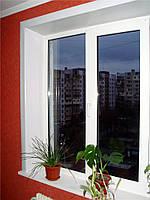 Окно из профиля KBE-Optima 70мм(6 камерный) 1,3х1,4 стандартное, стеклопакет 2-х кам  энергосберег