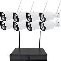 Комплект видеонаблюдения беспроводной Mela 720P WiFi на 8 камер (квадратные) (13298), фото 1