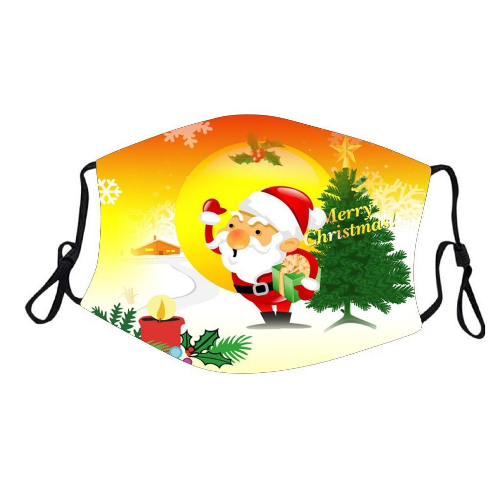 Защитная турмалиновая маска с рисунком «Дед Мороз с Елкой»