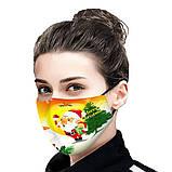 Защитная турмалиновая маска с рисунком «Дед Мороз с Елкой», фото 2