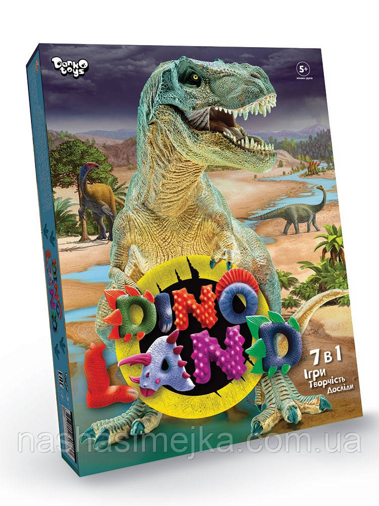Набір для ігор, творчості та дослідів Dino Land 7в1 (Динозаври) (Danko Toys)